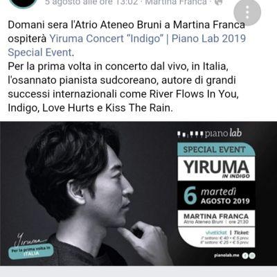 Yiruma In Indico - Locandina